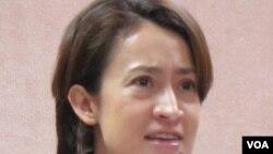台湾在野的民进党立委 萧美琴(美国之音张永泰拍摄)