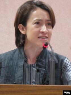 台灣在野的民進黨立委 蕭美琴(美國之音張永泰拍攝)
