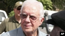 Former U.S. President Jimmy Carter in Sudan