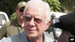 Former U.S. President Jimmy Carter in Sudan