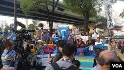 香港、東突厥斯坦、圖博、南蒙古人民聚首大阪集會(學生動員圖片)