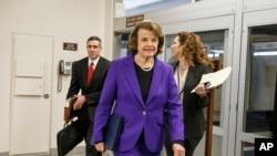 Foto Senatè Ameriken Dianne Feinstein, Demokrat, Kalifòni.