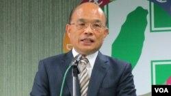 民进党主席 苏贞昌(美国之音 张永泰拍摄)
