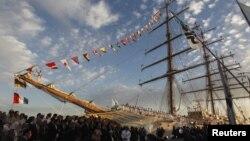 El buque escuela estuvo retenido 77 días en un puerto de Ghana.