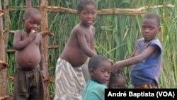 Crianças são a maioria nos campos de refugiados de moçambicanos no Malawi. Campo de Kapise, distrito de Mwanza. Janeiro, 27, 2016