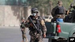 在喀布爾巡邏的阿富汗安全部隊(資料照片)