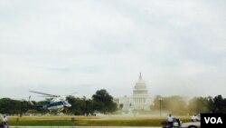 Hình ảnh vụ nổ súng bên ngoài Trụ sở Quốc hội Mỹ