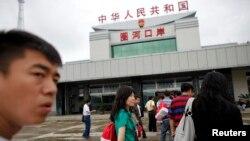 중국 지린성 훈춘시 북한 접경 인근의 출입국사무소. (자료사진)