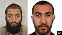 Dua dari tiga pelaku serangan London Sabtu (3/6): Khuram Shazad Butt (27 tahun) dan Rachid Redouane (30 tahun).