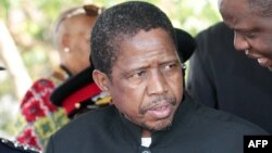 Le ministre de la Défense zambienne, Edgar Lungu est candidat du Front patriotique, parti au pouvoir, à l'élection présidentielle prévue mardi 20 javnier 2014.