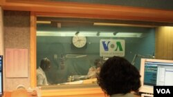 VOA Hausa Journalists Ibrahim Ka'almasih Garba and Kabiru Fagge in Studio
