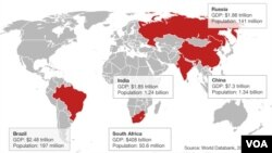 Les pays du BRICS