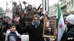 Prizor sa jednog od protesta u Siriji