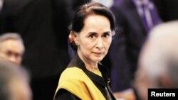 Lãnh đạo đảng cầm quyền Myanmar Aung San Suu Kyi.