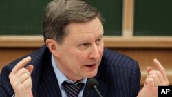 FILE - Kremlin's Chief of Staff Sergei Ivanov during a meeting in Moscow, Dec. 9, 2012.
