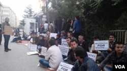 Afghan refugees protested in Turkey