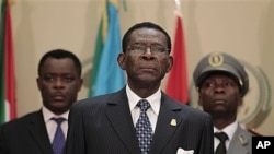 Equatorial Guinea President Teodoro Obiang Nguema. (file photo)