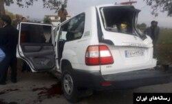 خودرویی که مقامات تامین اجتماعی در آن سوار بودند و در تصادف کشته شدند.