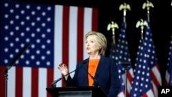 Kandidat Capres AS dari Partai Demokrat, Hillary Clinton di San Diego, California (2/6).