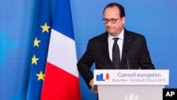 François Hollande, le président de la France (AP Photo/Geert Vanden Wijngaert)