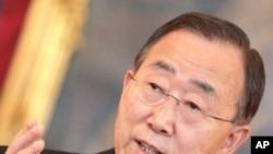 ເລຂາທິການໃຫຍ່ອົງການສະຫະປະຊາຊາດ ທ່ານ Ban Ki-moon ຮຽກຮ້ອງໃຫ້ອັຟການິສຖານຖືເອົາການປາບປາມການຄ້າຢາເສບຕິດ ເປັນບຸລິມະສິດ ໃນກອງປະຊຸມນາໆຊາດທີ່ກຸງວຽນນາ (16 ກຸມພາ 2012)