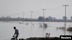 巴基斯坦洪灾(资料照片)