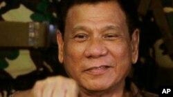 Le président philippin Rodrigo Duterte, le 25 août 2016. (AP/Bullit Marquez)