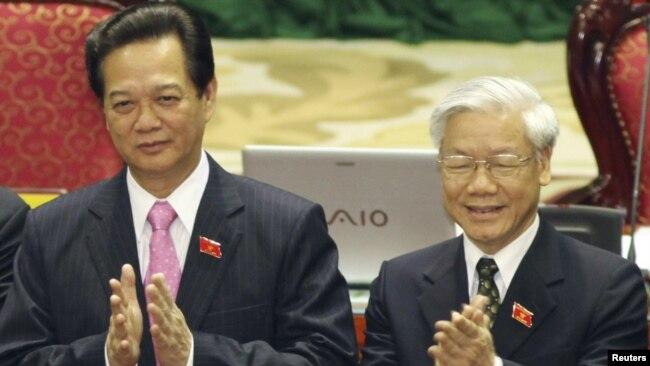 Ông Nguyễn Tấn Dũng và ông Nguyễn Phú Trọng.
