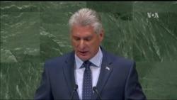 "Díaz Canel en la ONU: ""Cuba está dispuesta a dialogar"""
