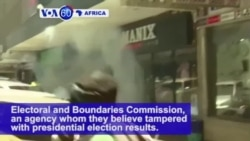 VOA60 Africa - Kenyan Police Fire Tear Gas at Demonstrators