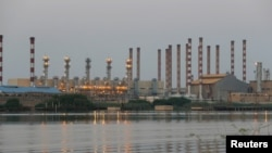 A general view of Abadan oil refinery in southwest Iran, is pictured from Iraqi side of Shatt al-Arab in Al-Faw south of Basra, Iraq September 21, 2019. REUTERS/Essam Al-Sudani
