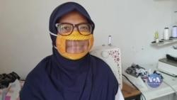 В Індонезії придумали прозорі маски для людей з вадами слуху. Відео