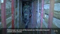 Kurdish Peshmerga Discover IS Secret Underground Tunnels