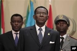FILE - Equatorial Guinea President Teodoro Obiang Nguema, July 1, 2011.