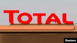 Le logo du groupe Total à Laplume, France, le 16 janvier 2020.