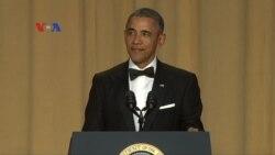 Obama Melawak di Depan Wartawan untuk Terakhir Kali