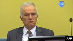 A screen grab released by the International Criminal Tribunal for the former Yugoslavia (ICTY) shows former Bosnian Serb army chief Ratko Mladic sitting in the courtroom in The Hague, May 16, 2012.