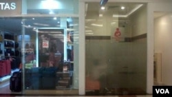 Salah satu ruang ibu menyusui yang ada di sebuah mall ternama di Kota Bandung. (VOA/R. Teja Wulan)