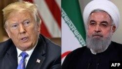 美國總統特朗普和伊朗總統魯哈尼