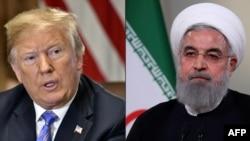 នេះជារូបភាពបញ្ចូលគ្នារវាងរូបរបស់លោកប្រធានាធិបតីអាមេរិក ដូណាល់ ត្រាំ និងលោកប្រធានាធិបតីអ៊ីរ៉ង់ Hassan Rouhani។