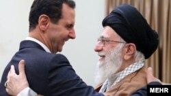 بشار اسد رئیس جمهوری سوریه از حمایت آیت الله خامنه ای رهبر جمهوری اسلامی برخوردار بوده است.