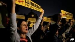 Bamwe mu bashigikiye ukwigenga kwa Catalonia