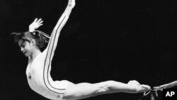 Nadia Comaneci, en los Juegos de Montreal en 1976.