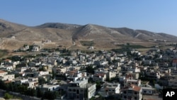 FILE - A general view of Lebanon's Ras Baalbek, a Christian town in the northern Bekaa region near the border with Syria.