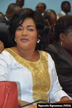 Nefer Inès Ignani, ministre de la Promotion de la femme, à Brazzaville, le 27 février 2013. (VOA/Ngouela Ngoussou)