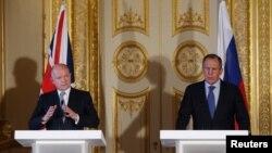 Уильям Хейг и Сергей Лавров во время совместной пресс-конференции. Лондон, Великобритания. 13 марта 2013 года