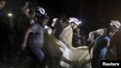 ဆီးရီးယား ေလေၾကာင္းတိုက္ခိုက္မႈ နယ္စည္းမျခား ဆရာ၀န္မ်ား အဖြဲ႔ MSF က Aleppo ၿမိဳ႕မွာ ဖြင့္ထားတဲ့ ေဆး႐ံုထိမွန္ ( ဧၿပီ ၂၈၊ ၂၀၁၆)