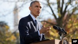 """""""Es importante para los estadounidenses recordar que solo dos personas se han contagiado en el país. Y ambas han sanado"""", dijo Obama."""