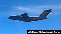 """馬來西亞當局稱中國解放軍空軍的""""西安Y-20""""運輸機出現在馬來西亞海域上空。所拍攝圖片來自馬來西亞皇家空軍。(2021年5月31日)"""