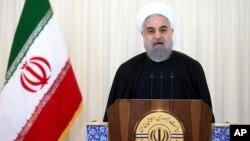 伊朗總統魯哈尼11月16日在IAEA講及有關伊朗核協議。